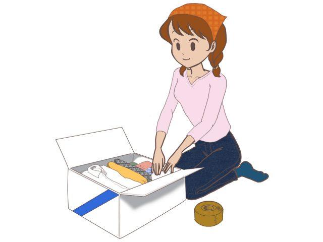 引越しの梱包作業