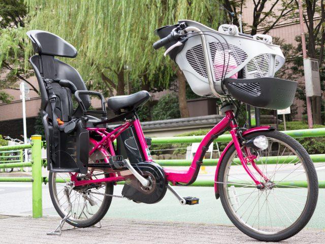 チャイルドシート付き電動自転車