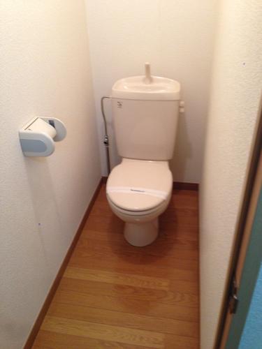 この物件のトイレはちょっと細長いです。