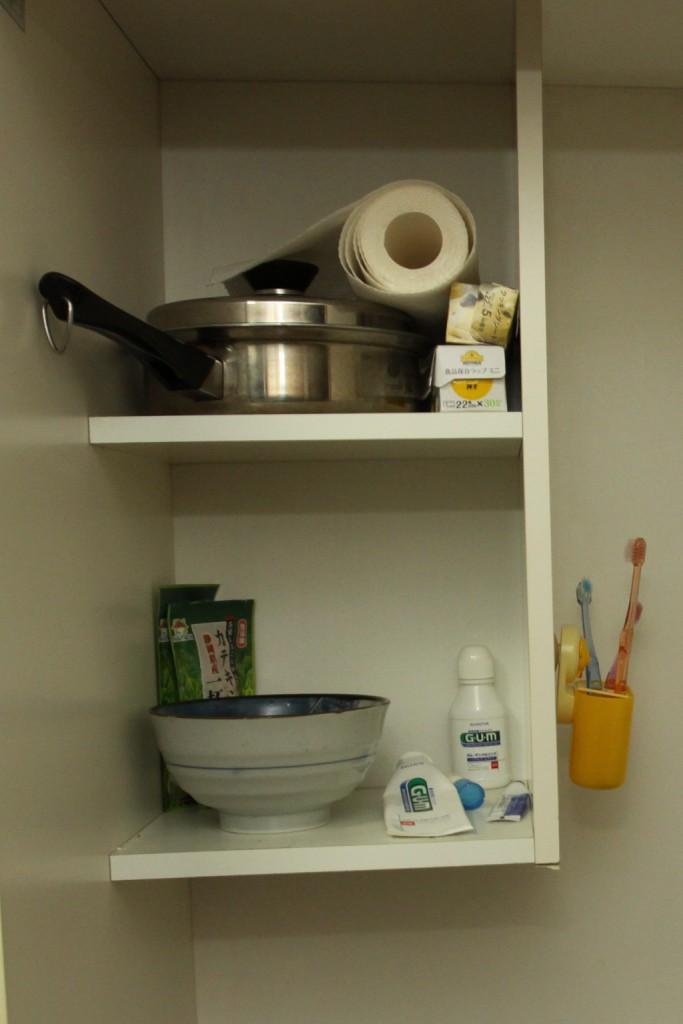 キッチン上の棚