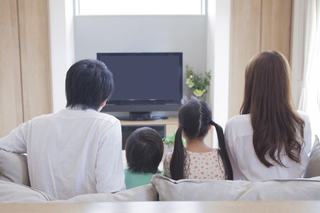 テレビ視聴中