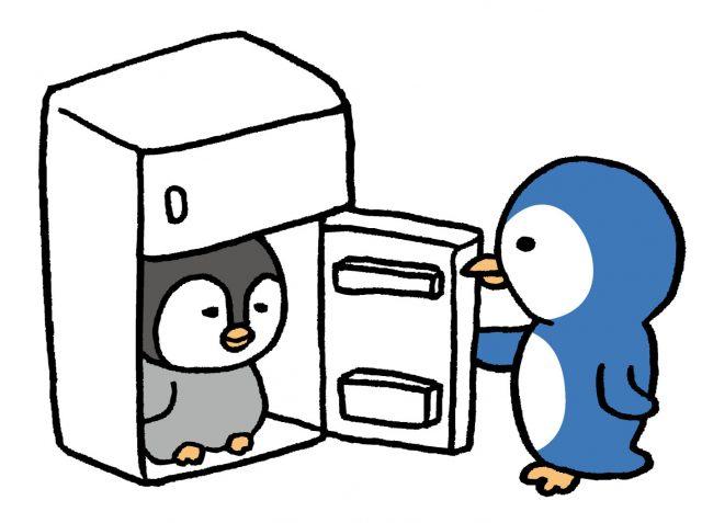 冷蔵庫の中にペンギン