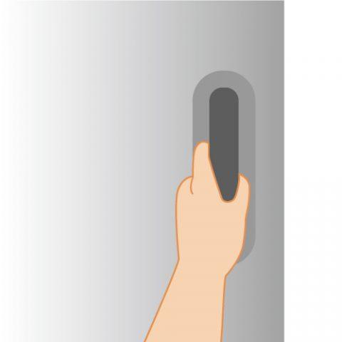 左利き用の冷蔵庫