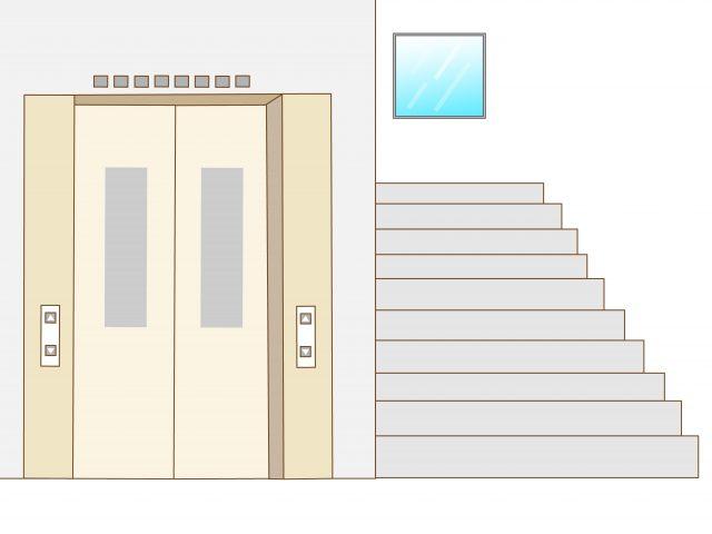 マンションのエレベータを確認する