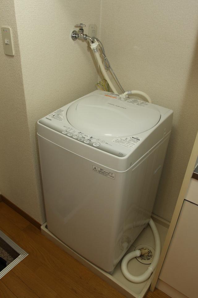 レオパレス21の洗濯機(入居直後)