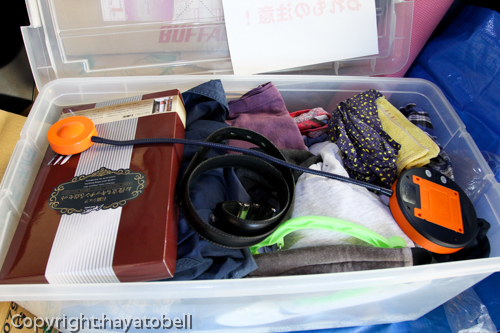 引越し荷物(衣類など)