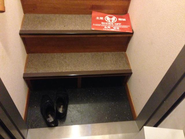 玄関内部に階段