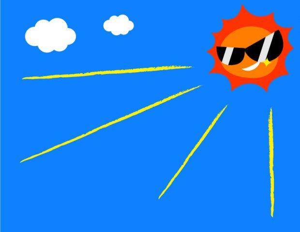 猛暑と直射日光