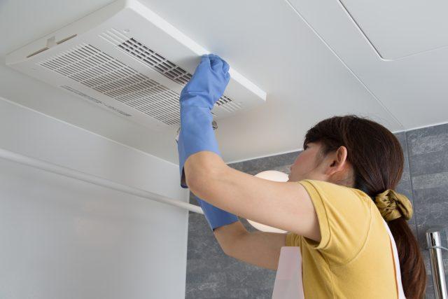 バスルーム換気扇の掃除