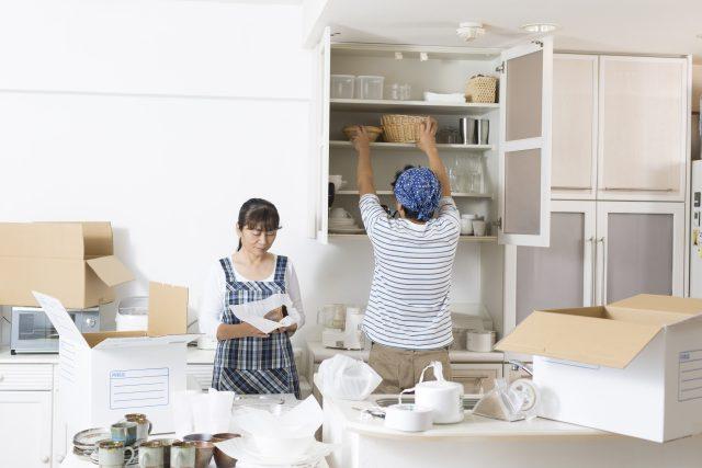 キッチンの引越し準備