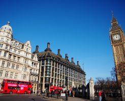 ロンドンバスとビッグベン(イギリス)