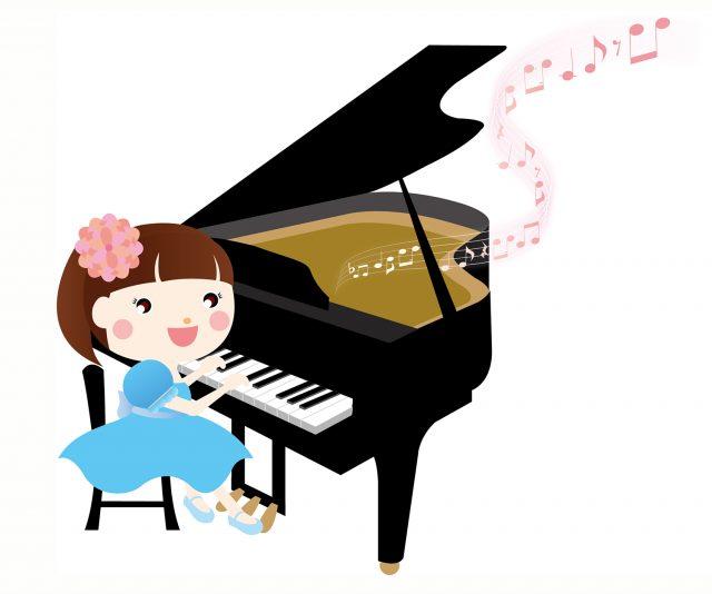 ピアノ演奏と音