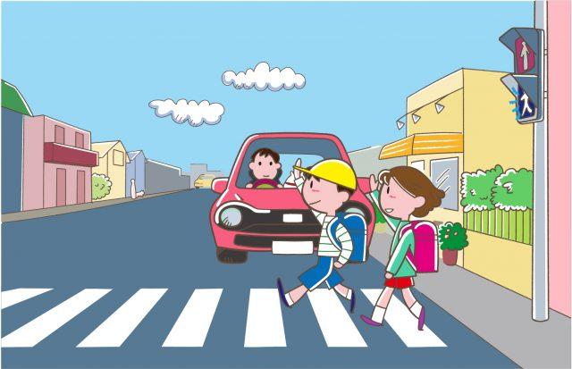 小学生低学年の通学と交通安全