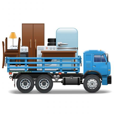 食器棚の運搬