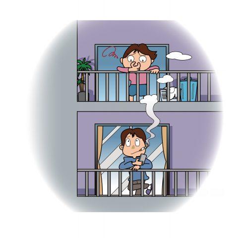 ベランダでのタバコトラブル