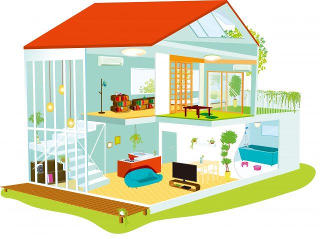 住宅の断面図