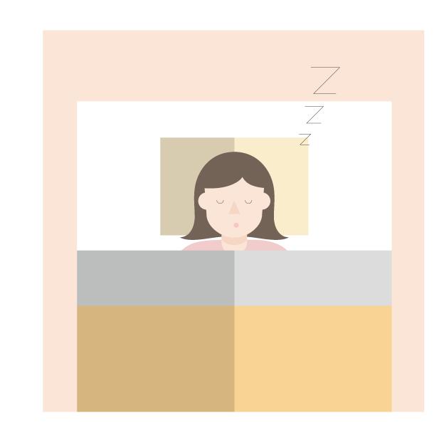 ベッド、枕、睡眠