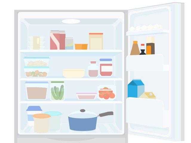 整理整頓された冷蔵庫